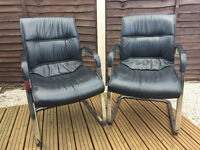 Black Leather Executive Chair -- 4 Available to Buy