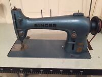 Antique industrial sewing machine