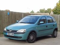Vauxhall Corsa 1.2 i 16v Club 5dr LONG MOT + IDEAL FAMILY CAR!