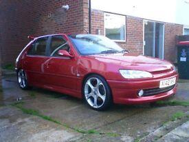 £1.0k 2001 5dr Peugeot 306 1.8L Hatchback Manual Petrol (130bhp) Half leather FSH 93k miles
