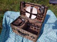 Wicker Picnic Basket and accessories - never used! - purchase at £100