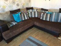 Harvey's corner sofa, 2 seater sofa & footstool