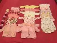 Girls baby Bundle 0 - 3 months