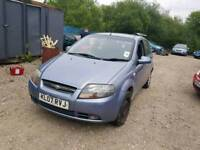 07 PLATE CHEVROLET KALOS. 1.2 PETROL. PLEASE READ ALL AD.