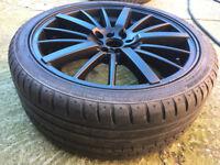 """Black Alloy wheels 18"""" inch Seat arosa cordoba Ibiza alloys Mitsubishi wheel Mini cooper coupe one"""