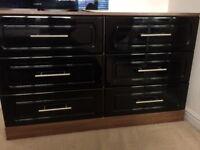 3 x Black Walnut chest of drawers (Hammonds)