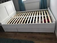 Ikea Brimnes double bed with headboard