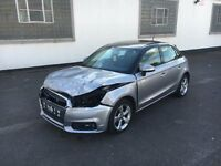 2015 65 AUDI A1 SPORT 1.0 TFSI S-AUTOMATIC SILVER DAMAGED SALVAGE REPAIRABLE - PAN ROOF
