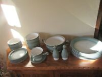 DENBY CASTILE TABLEWARE BLUE GREEN 21 PIECES DISCONTINUED SOLD AS A SET