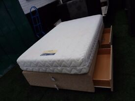 3 quarter bed (4 drawers) & Ortho Memory mattress