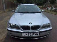 BMW 3 Series 320i SE Touring 5dr 2002 (52 reg), Estate Automatic 2171cc +One Year MOT No Advisory