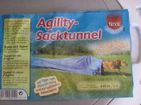 Dog agility sack tunnel
