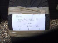 AVON 285 30 R20 part worn tyre 4.7 mm tread depth
