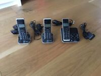 BT Xenon 1500 Trio (3 wireless home phone+answering machine)
