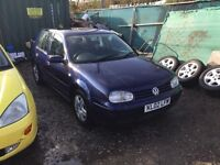 2002 golf diesel 5 door hatchback in navy blue alloy wheel drives superb ultra reliable car with mot