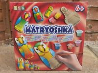 Matryoshka, wooden dolls painting kit, kids craft, 6+, unopened box