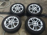 4x Vauxhall Corsa D 16 inch alloys with tyres