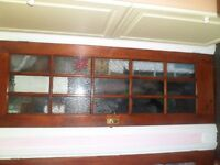 internal wood varnished doors with 15 panel glass