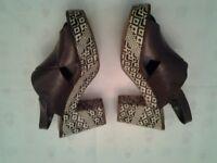 Ladies Clarks Leather Sandals