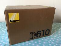 Nikon D610 original box