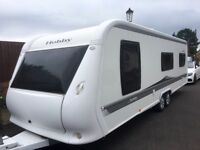Hobby Caravan 695 Vip Collection (2010) Leather Upholstery, Island Bed. Like Tabbert/Fendt