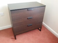 IKEA Chest of three drawers, dark brown