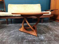 Sunburst Coffee Table by Soren Georg Jensen for Kubus. Danish Retro Vintage Mid Century