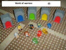 world of warriors collection from didcot from a smoke and pet free home £5
