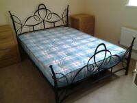 Metal Frame Double Bed and Orthopaedic Mattress