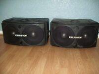 Celestion SR1 PA speakers. PAIR.