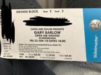 1x Gary Barlow Ticket - Scarborough Open Air Theatre