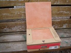 """Floor Tiles """"Sienna Brown"""" (a red hue) 33 x 33"""