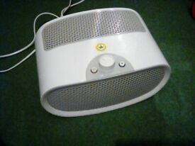 Bionaire air purifier. Allergy control by dust pollen extraction and filtration