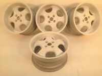 """RH CUP 16"""" two 7.5J and two 9J 4x100 DEEP DISH ALLOY WHEELS, ORIGINAL MADE IN GERMANY not keskin"""