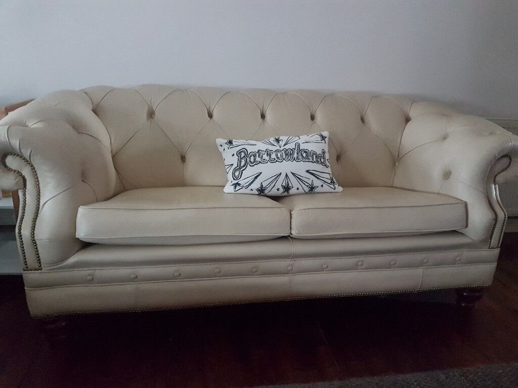 Vintage Cream Chesterfield Sofa In Southside Glasgow Gumtree