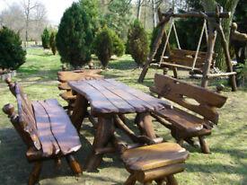garden swing table bench planter