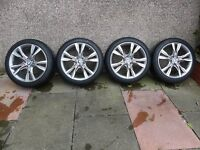 Bmw 2 series (F45) active tourer alloy wheels and tyres.