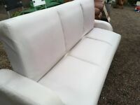 White Futon with under storage ...FREE LOCAL DELIVERY