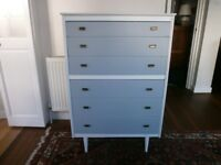 Vintage wooden mid century chest of drawers, made by Lebus, good condition