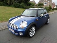 Mini Cooper 1.6 Chili,07,Lightning Pearl,Blue-Grey Int,FDSH 92000 mls,2 owner,MOT May 2017,Pristine.