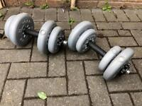 2 x 7.5kg York Barbell for sale