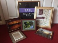 6 Picture Frames Job lot - 2 Large Gold, 4 Medium