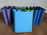 10 colourful A4 folders