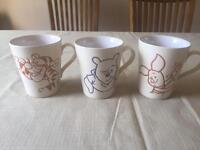Winnie the Pooh mugs x3 never used