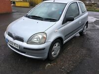 Toyota Yaris Automatic 1.3 73K 12 Months MOT 2002 Reg Going Dead Cheap