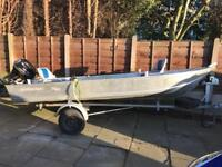 "14-0"" Aluminium Fishing Boat and 15hp Outboard"