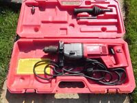 A used Milwaukee drill DD-160XE Core Drill