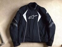 Alpinestars Fastback Jacket size L (large). Excellent condition. With extra Alpinestars back armour.