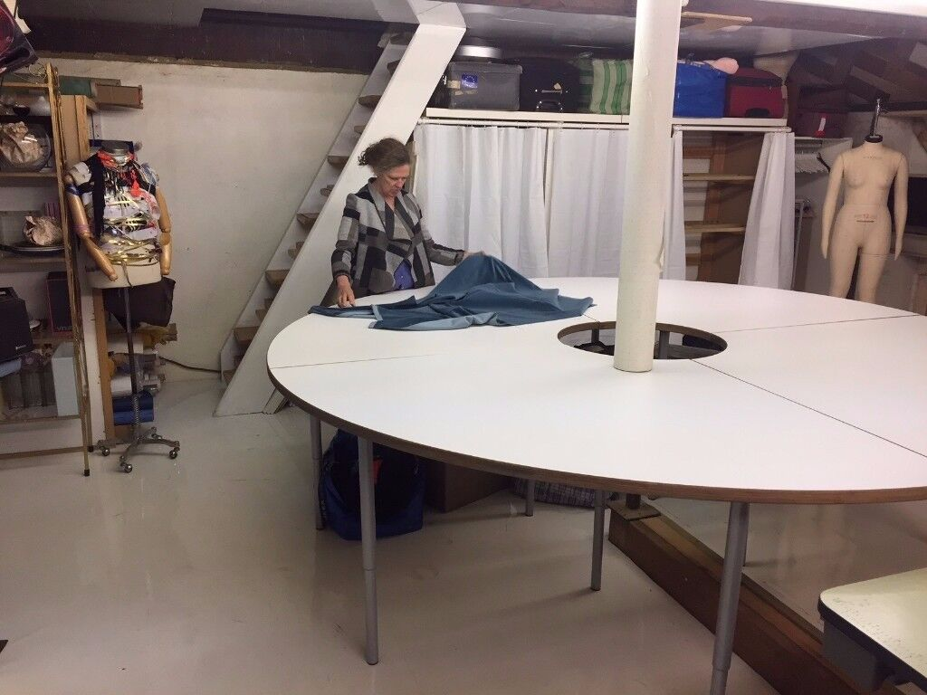 Desk space/craft area in set designers studio/workshop