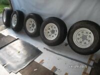 RARE WELLER wheels & TYRES 235 X 75 R15 ON / OFF ROAD JEEP / SUZUKI / FOUR TRAK
